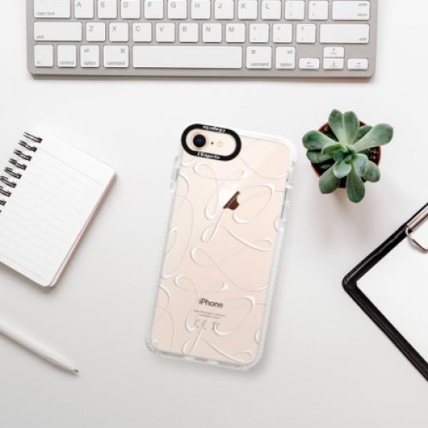 Silikonové pouzdro Bumper iSaprio - Fancy - white - iPhone 8