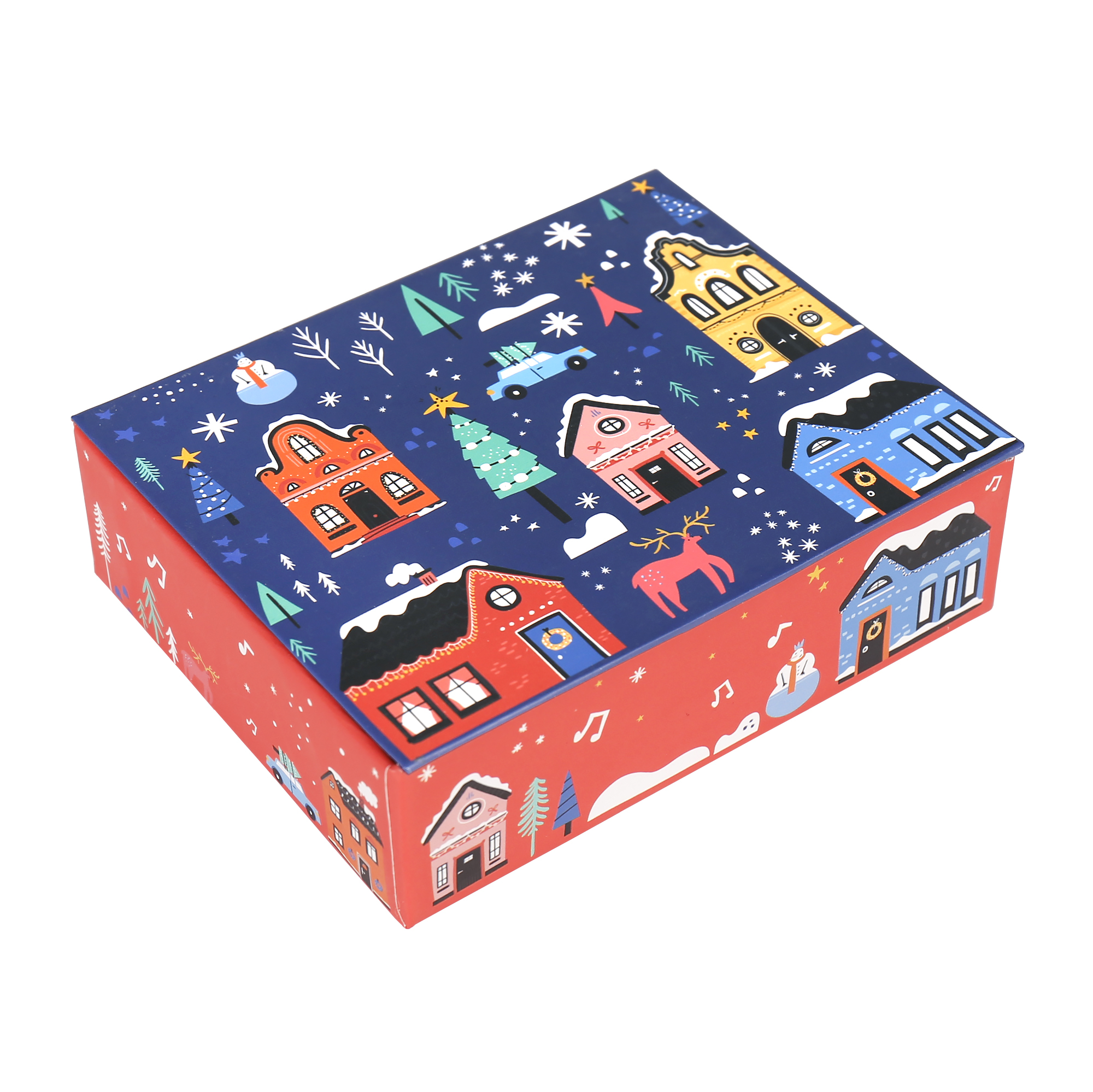 Hrací krabička - Zasněžené domky