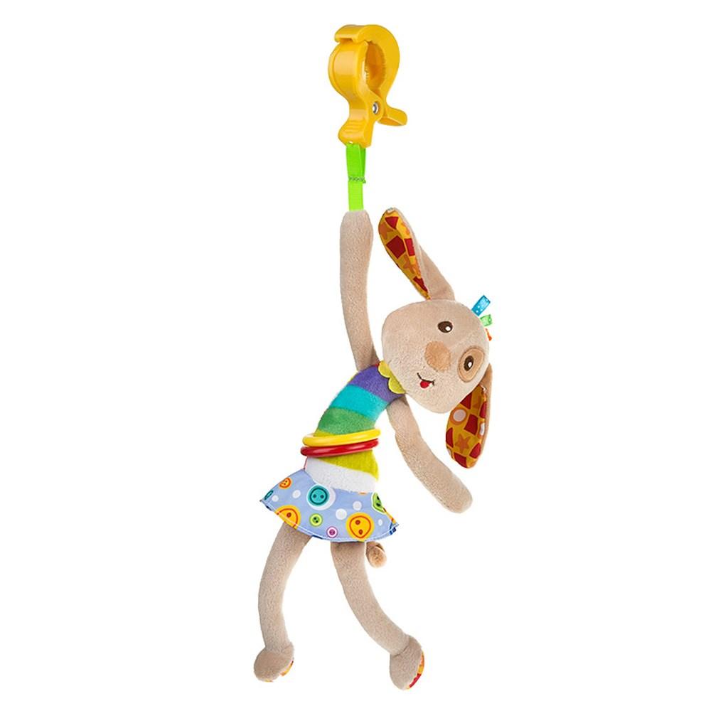 Dětská plyšová hračka s vibrací Akuku pejsek - hnědá