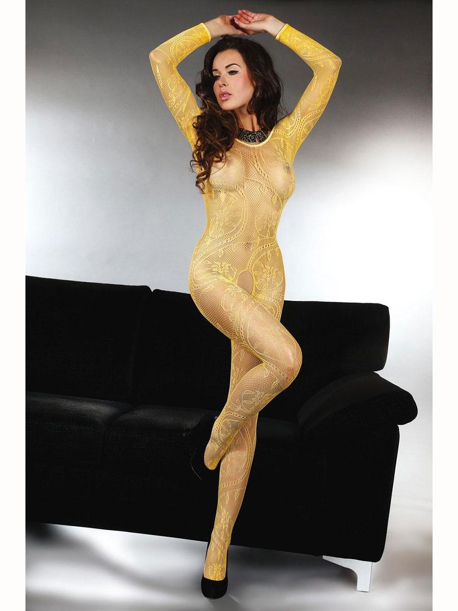 Luxusní body Abra - žlutá-S/L