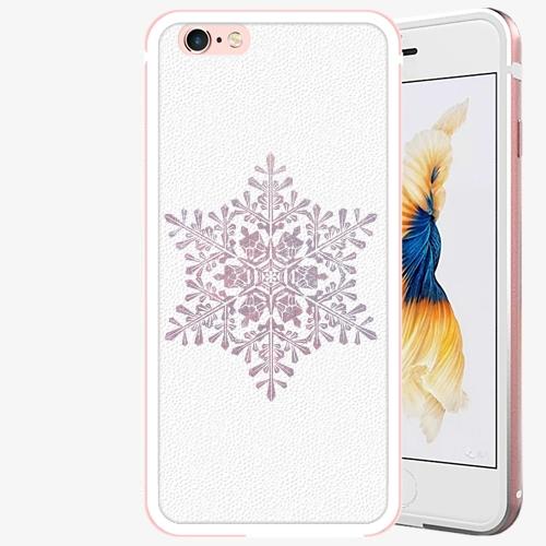 Plastový kryt iSaprio - Snow Flake - iPhone 6 Plus/6S Plus - Rose Gold