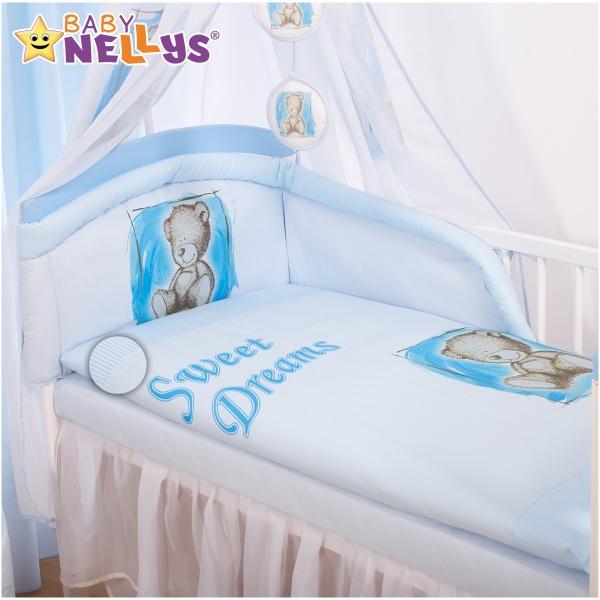 Baby Nellys Povlečení Sweet Dreams by Teddy - modrý