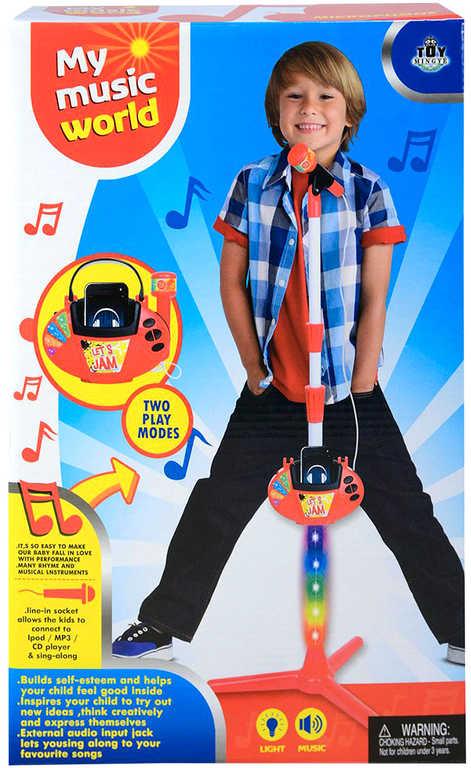 Mikrofon dětský stojanový na baterie MP3 / IPOD / Přehrávač Světlo Zvuk
