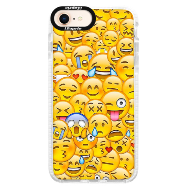 Silikonové pouzdro Bumper iSaprio - Emoji - iPhone 8