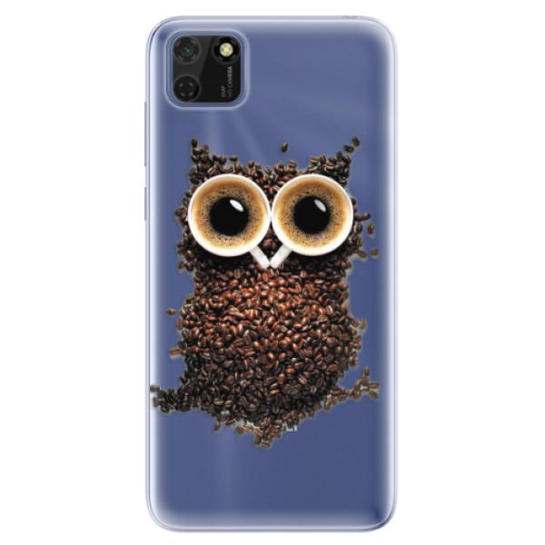 Odolné silikonové pouzdro iSaprio - Owl And Coffee - Huawei Y5p