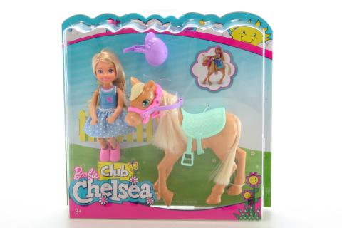 Barbie Chelsea a poník DYL42