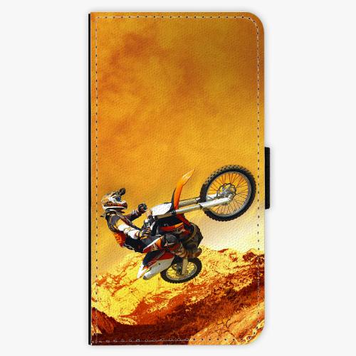 Flipové pouzdro iSaprio - Motocross - Huawei Ascend P9 Lite
