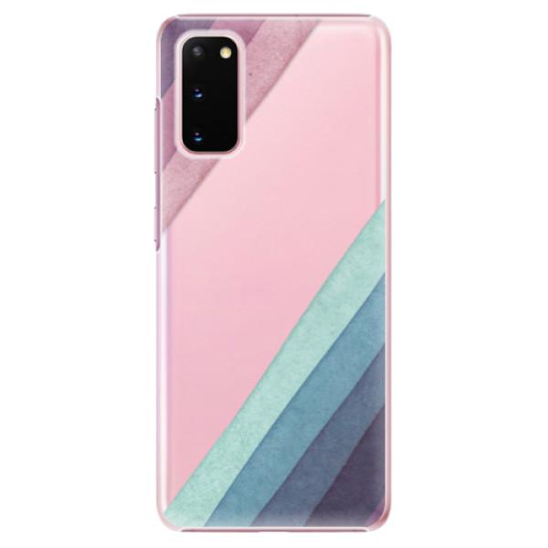 Plastové pouzdro iSaprio - Glitter Stripes 01 - Samsung Galaxy S20