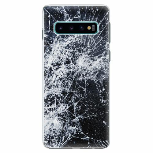 Plastový kryt iSaprio - Cracked - Samsung Galaxy S10