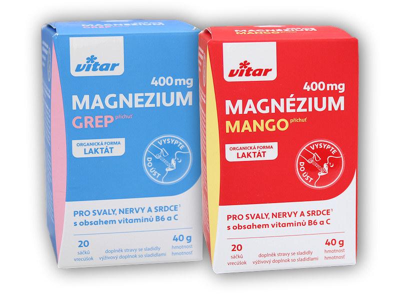 Magnézium 400mg+vitamín B6+vitamin C