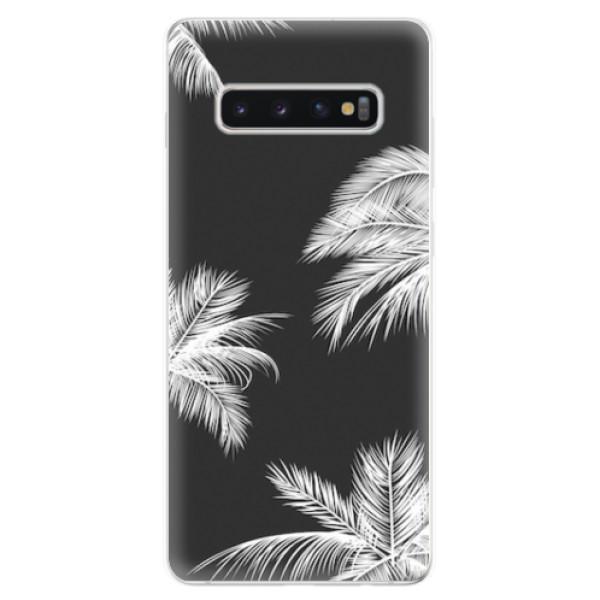 Odolné silikonové pouzdro iSaprio - White Palm - Samsung Galaxy S10+