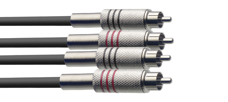 Stagg STC2C, kabel 2x RCA/2x RCA, 2m