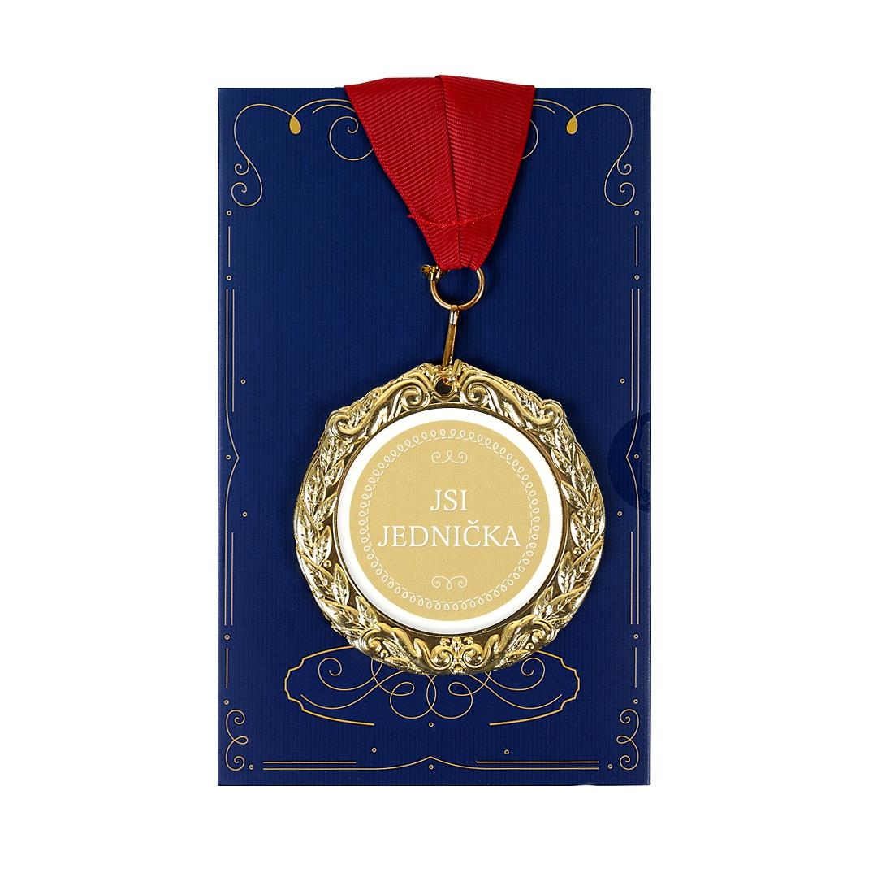 Přání s medailí - Jsi jednička