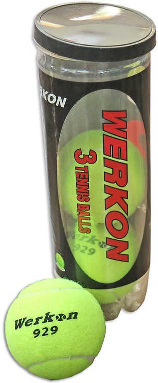 Míček na tenis 7cm set 3ks žluté v tubě