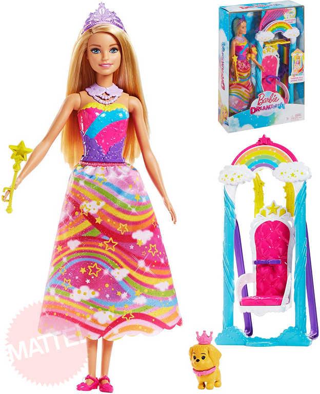 MATTEL BRB Panenka Barbie Dreamtopia princezna set s houpačkou a doplňky
