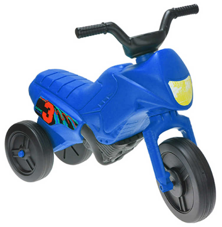 MAD Baby odrážedlo ENDURO modré odstrkovadlo 55x28x40cm motorka plast