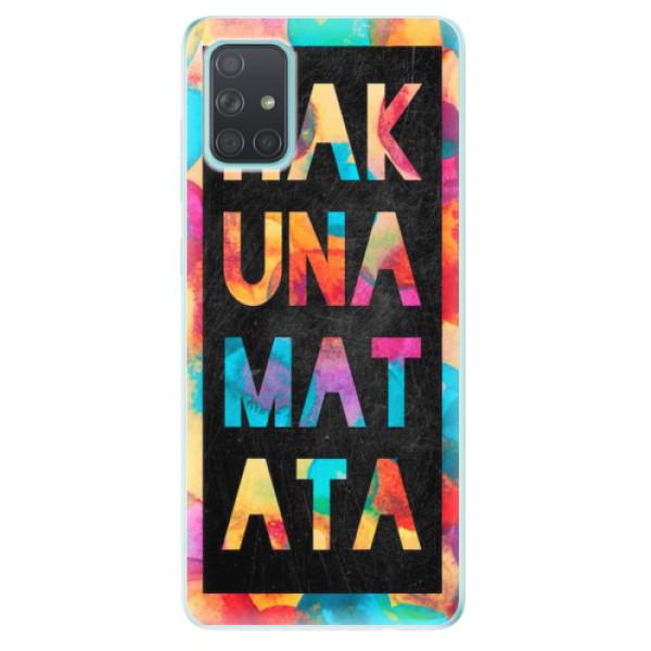 Odolné silikonové pouzdro iSaprio - Hakuna Matata 01 - Samsung Galaxy A71