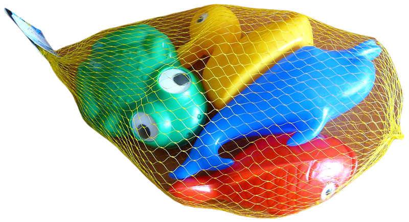 SMĚR Plavací sada zvířátka plastová do vany 4 kusy