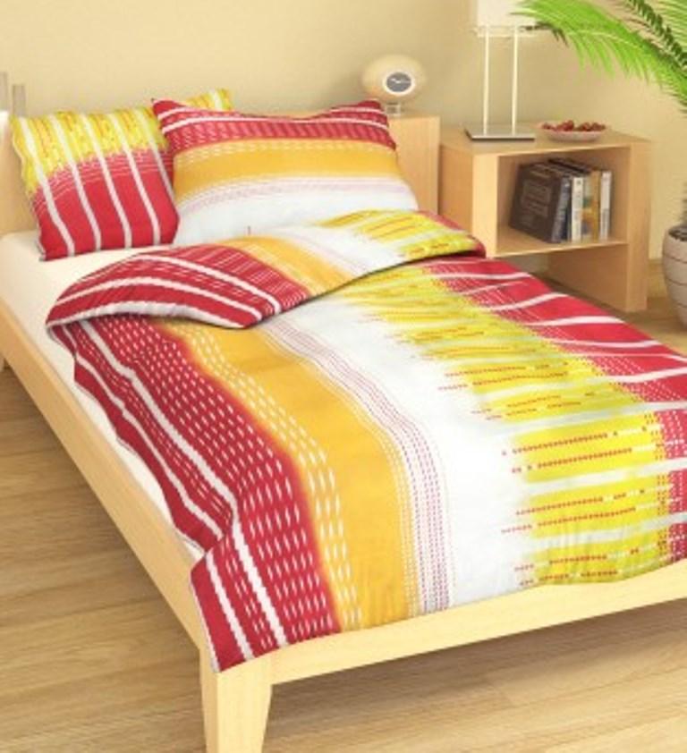 Přehoz přes postel dvojlůžkový Nora růžovožlutá, Výběr rozměru: 240x220cm