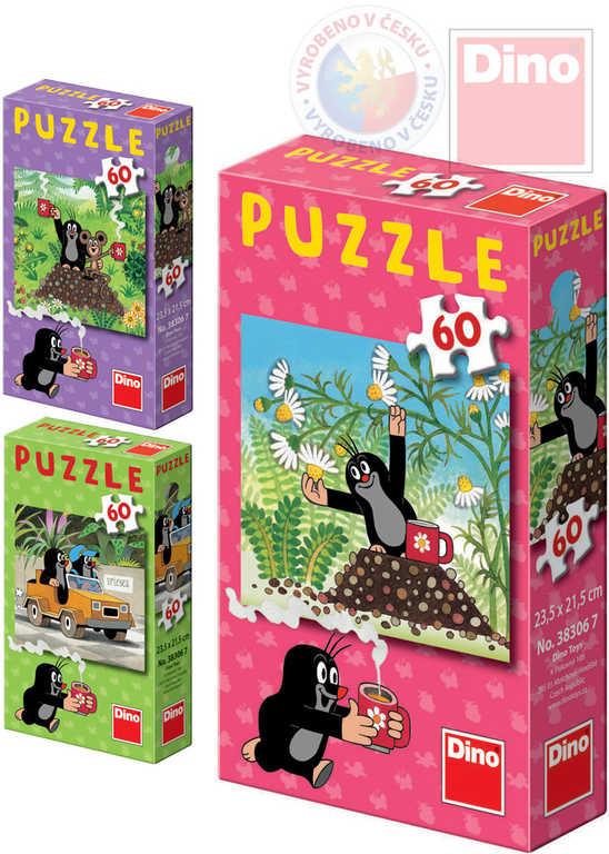DINO Puzzle Jak Krtek uzdravil myšku (Krteček) 24x22cm set 60 dílků 6 druhů