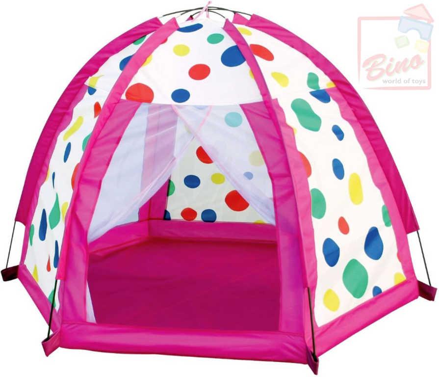 BINO Stan dětský barevné kuličky 155x100x155cm holčičí