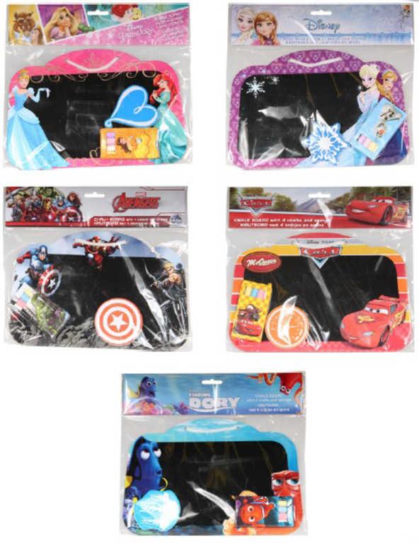 Set tabule dětská Disney houbička + 4 křídy v sáčku 5 druhů