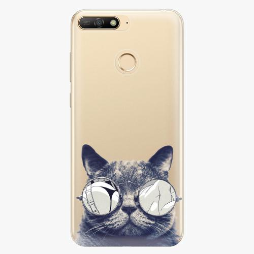 Silikonové pouzdro iSaprio - Crazy Cat 01 - Huawei Y6 Prime 2018