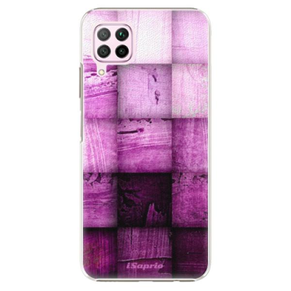 Plastové pouzdro iSaprio - Purple Squares - Huawei P40 Lite
