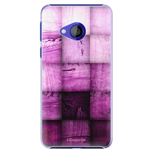 Plastové pouzdro iSaprio - Purple Squares - HTC U Play