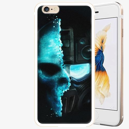 Plastový kryt iSaprio - Roboskull - iPhone 6 Plus/6S Plus - Gold