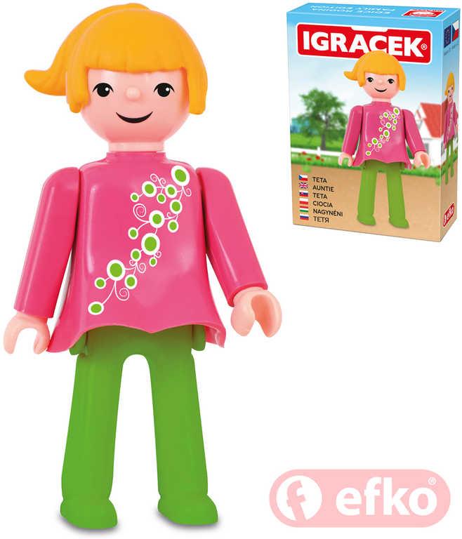 EFKO IGRÁČEK Tetička figurka 7,5cm rodina v krabičce STAVEBNICE