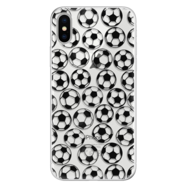 Silikonové pouzdro iSaprio - Football pattern - black - iPhone X