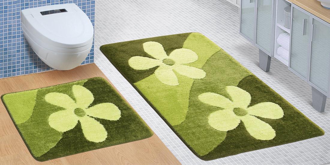 Koupelnová SADA ULTRA 60x100+60x50cm Mangolie zelená