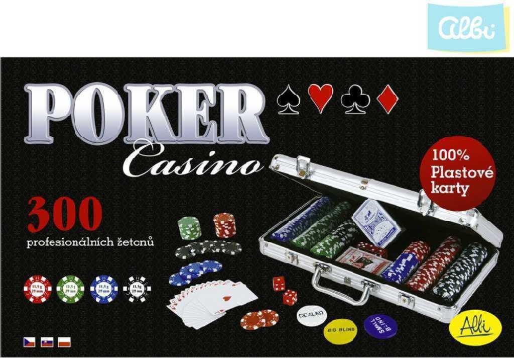 ALBI HRA Poker casino 300 žetonů kovový kufřík