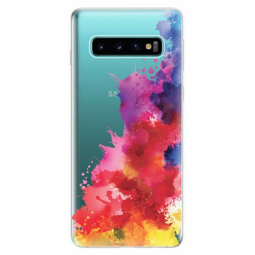 Silikonové pouzdro iSaprio - Color Splash 01 - Samsung Galaxy S10