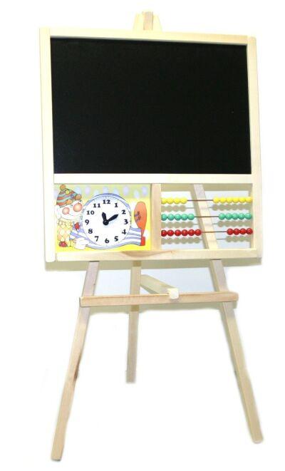Tabule dřevěná na křídu s počítadlem a hodinami