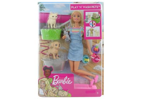 Barbie Koupání zvířátek FXH11