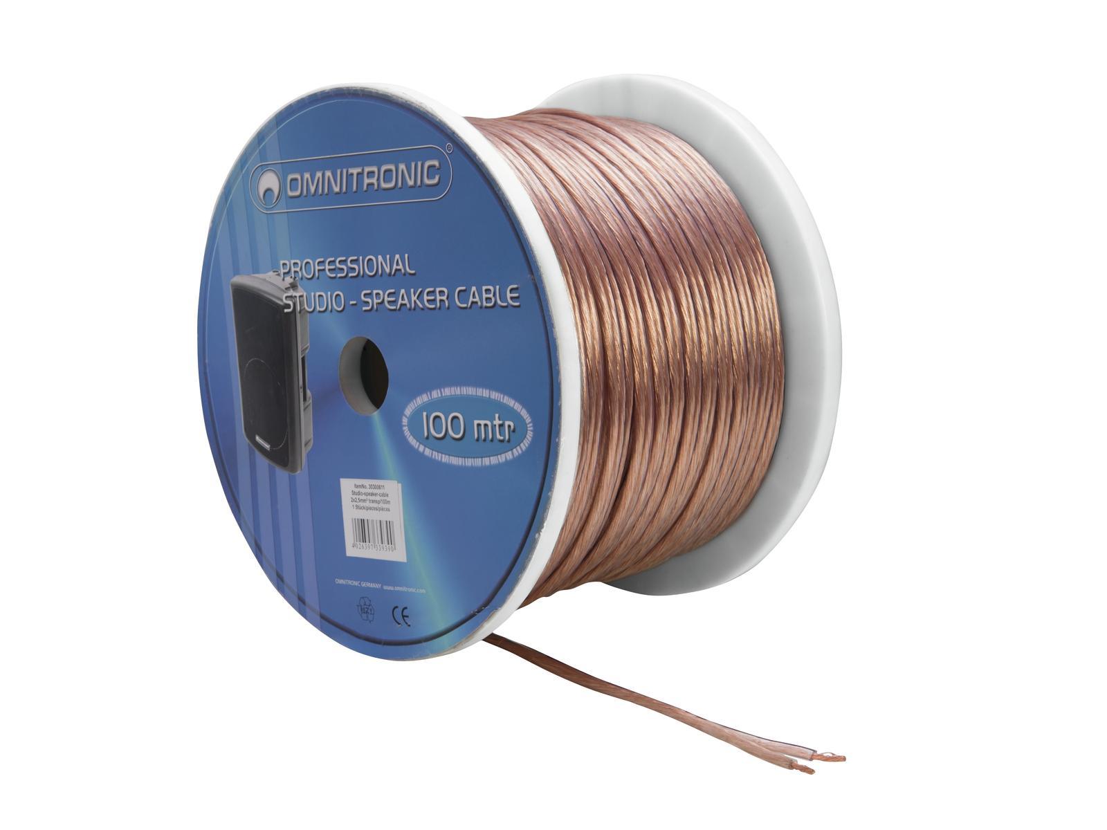 Kabel reproduktorový, 2x 2,5qmm, transparentní, cena / m