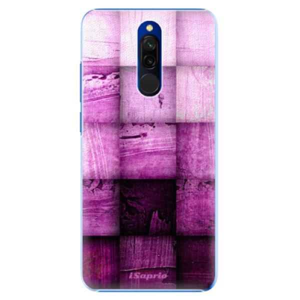 Plastové pouzdro iSaprio - Purple Squares - Xiaomi Redmi 8