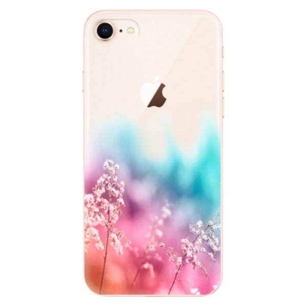 Odolné silikonové pouzdro iSaprio - Rainbow Grass - iPhone 8