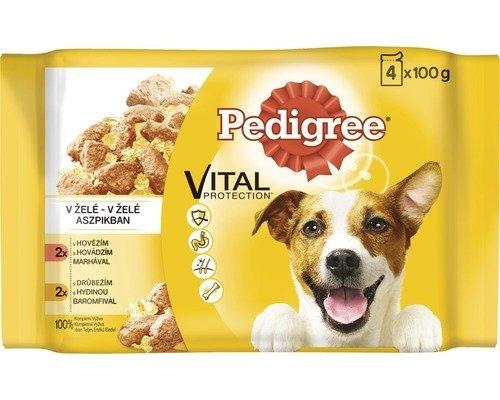 Pedigree Vital Protection výběr ve šťávě hovězí & drůbeží 4x100 g, 400 g