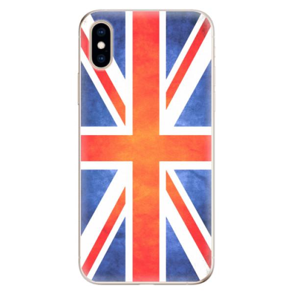 Odolné silikonové pouzdro iSaprio - UK Flag - iPhone XS