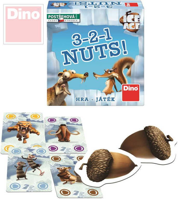DINO Hra 3-2-1 Nuts! Doba Ledová (Ice Age) v krabici