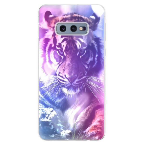Odolné silikonové pouzdro iSaprio - Purple Tiger - Samsung Galaxy S10e