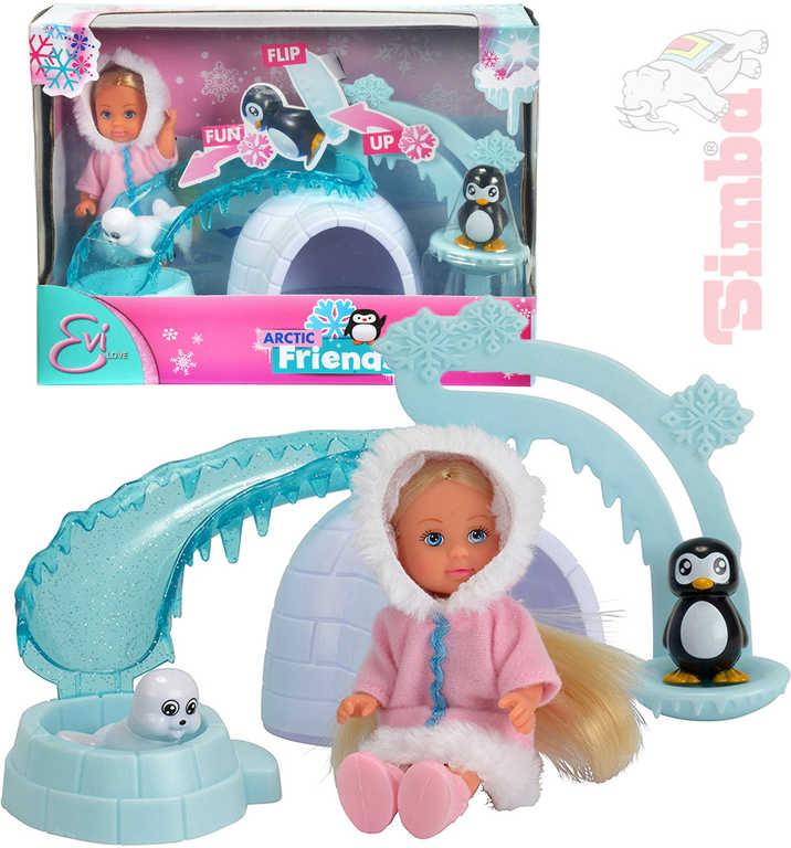 SIMBA Panenka Evička 12 cm Arctic Friends zimní obleček set s doplňky v krabici