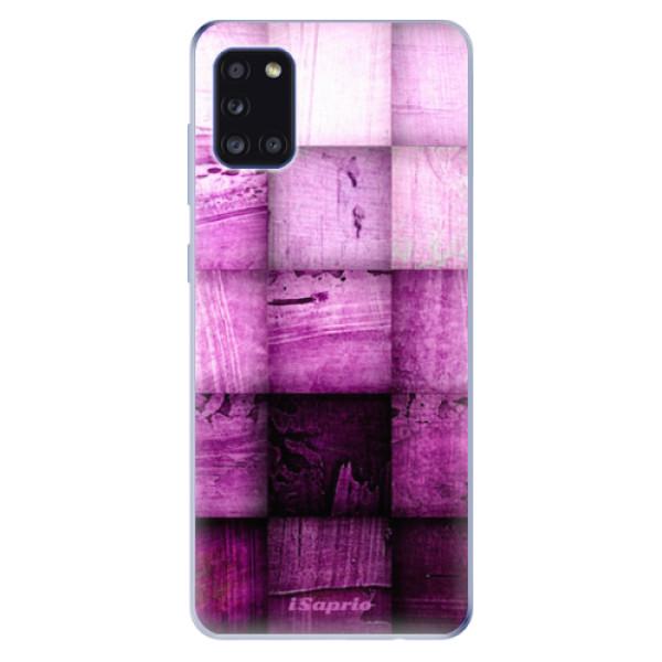 Odolné silikonové pouzdro iSaprio - Purple Squares - Samsung Galaxy A31