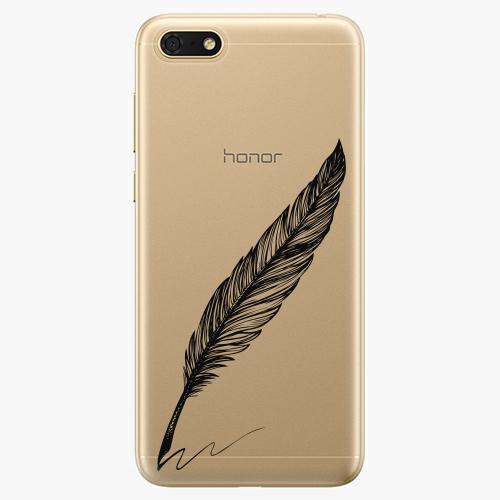 Silikonové pouzdro iSaprio - Writing By Feather - black - Huawei Honor 7S