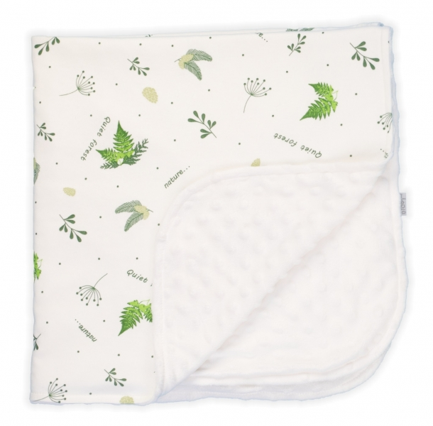 Dětská deka, dečka Nicol Forest - bílá s minky