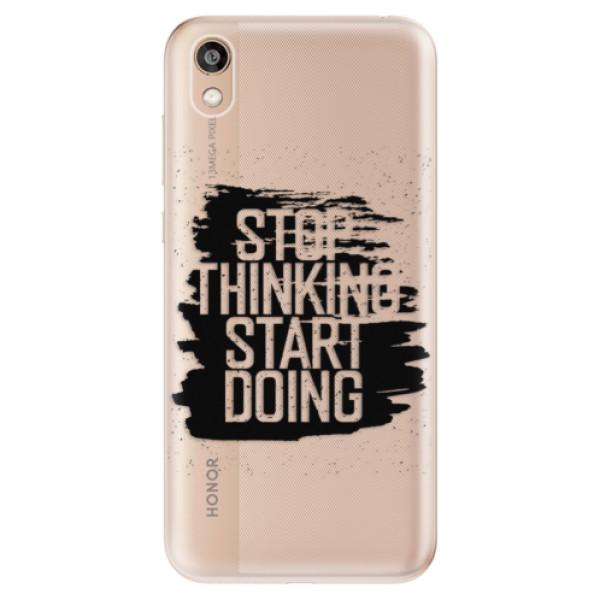 Odolné silikonové pouzdro iSaprio - Start Doing - black - Huawei Honor 8S