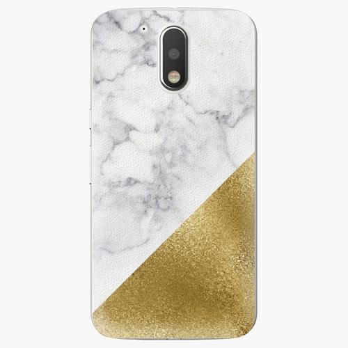 Plastový kryt iSaprio - Gold and WH Marble - Lenovo Moto G4 / G4 Plus